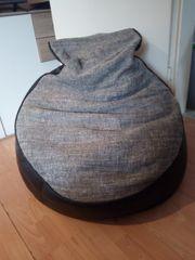 Sitzsack schwarz-grau