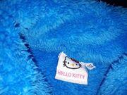 Plüschjacke Hello Kitty blau Größe
