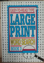 Large Print Word search Easy-to-read