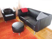 Schwarze Couch incl Sessel und