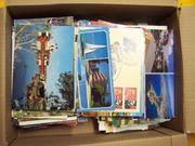Ansichtskarten Postkarten Karton voll über