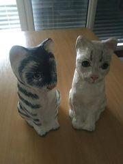 Pappmaché Katzen