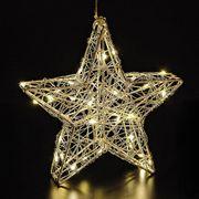 NEU 3D Weihnachts-Stern Draht 40