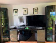 Elegante 4 teilige Wohnzimmer Anbauwand