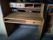 Schreibtisch Holz Schubladen