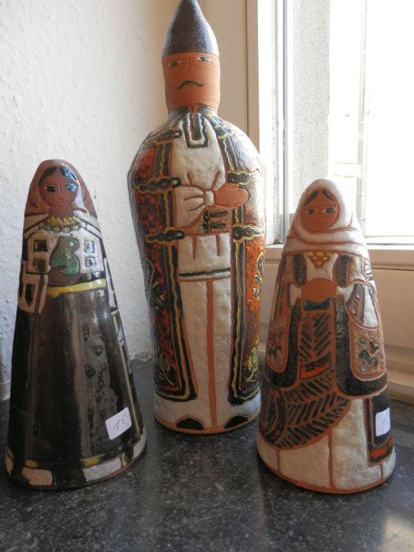 Alte rumänische Terrakotta-Figuren