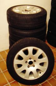 5 Original Audi Alu Felgen