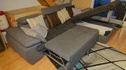 Wohnlandschaft Couch Sofa Grau mit