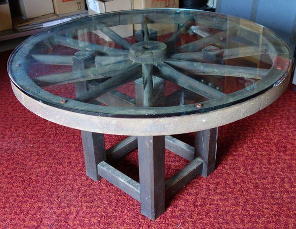 Wagenrad-Tisch Unikat