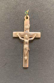 Kreuz Kruzifix silber-farben Anhänger Halschmuck