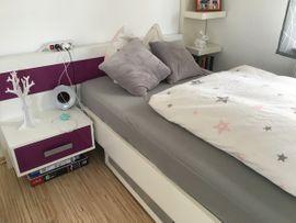 Betten - Weißes Jugendbett Mädchenbett