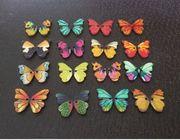Bunte Schmetterling Knöpfe - Holzknöpfe - Frühling