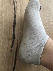 getragene Socken wie DU sie