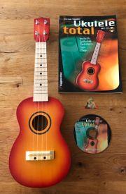 neuwertige ukulele komplettes set