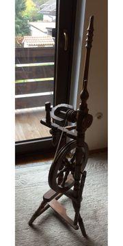 Deko - Spinnrad aus Holz