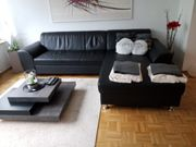 Couchgarnitur ausziehbar Leder