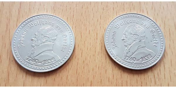 2 x Münze Medaille Johann
