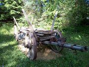 Rustikaler Holz-Pferdewagen