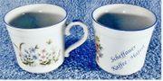 2 x Kaffeetassen Kaffeebecher - Scheffauer Kaffee-Haferl