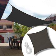 5x5m Sonnensegel Quadrat Sonnenschutz Windschutz
