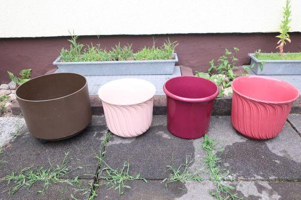 Verkaufe 3 Blumentöpfe Keramik rosa
