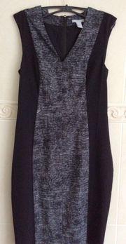 Etuikleid Kleid Schwarz Weiß Farbe