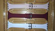 Nagelneue Applewatch Armbänder weiß rosa