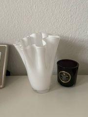 Vase weiß Glas modernes Design