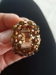 Handgemachte Ring mit Swarovski Perlen