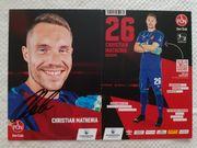 Autogrammkarte Christian Mathenia Torwart 1
