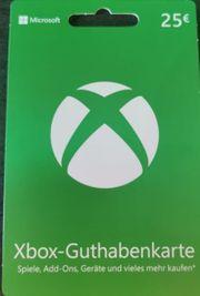 XBox 25 Euro Guthabenkarte