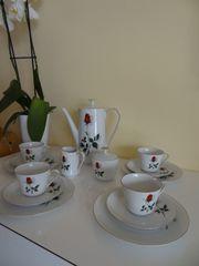 Bavaria Mitterteich rote Rosen Kaffeeservice