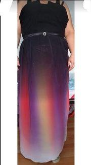 Abendkleid in Regenbogen Farben gr