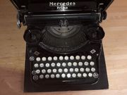 antike Kofferschreibmaschine Mercedes prima