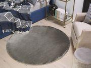Teppich dunkelgrau ø 140 cm