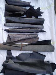 Leder schwarz und grau Kalbs-und