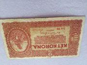2 Korona Banknote 1920 aus
