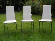 3 schöne weiße Stühle