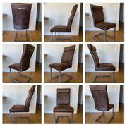 6 Freischwinger Stühle Stuhl old