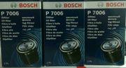 3x Bosch P7006 Ölfilter für