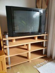 Loewe Fernseher und Regal kostenlos