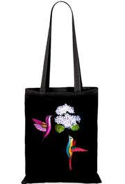 Schöne neue handbemalte Stoff-Einkaufstaschen Kolibris