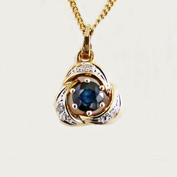 Anhänger Gold 585er Bicolor Diamant