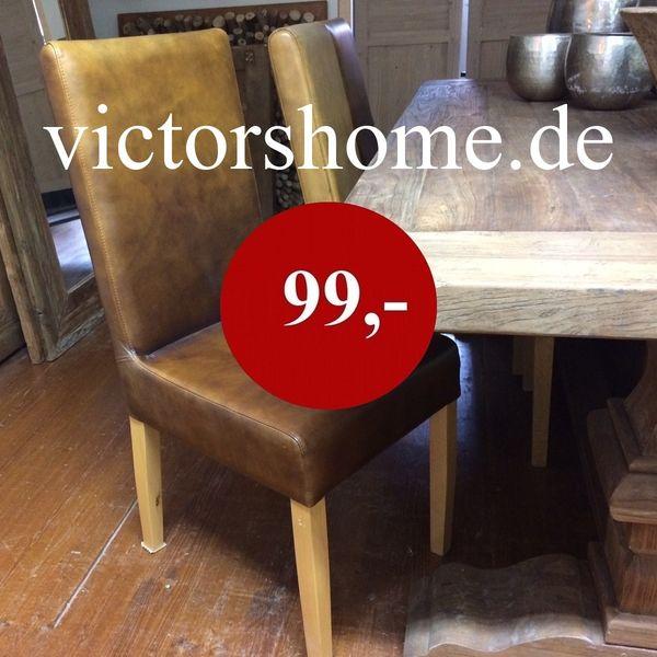 Lederstuhl Eßtischstuhl Schreibtischstuhl Rindsleder braun