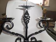 Schöner Schmiede eisener Kerzenständer 3 -