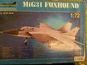 Unbenutzt Modellbausatz MIG 31 Foxhound
