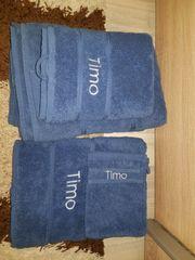 Handtuch Duschtuch Badetuch Set Blau