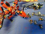 Lego Blauer und Roter Drachen