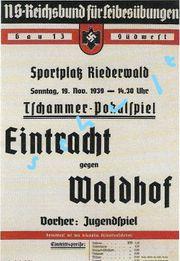 Eintracht Frankfurt -Waldhof Mannheim Pokalspiel