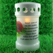 Gedenklicht für zuhause Trauerkerze Gedenkkerze